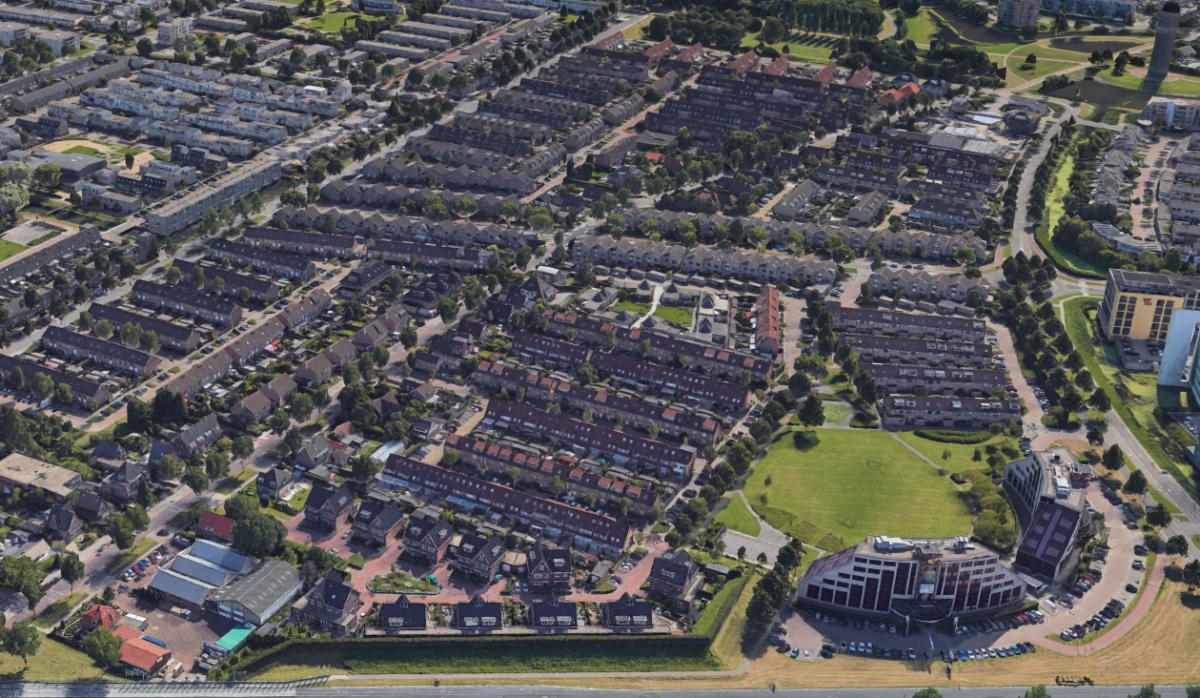 Afbeelding van het nieuwe ontwerp met 4 woontorens